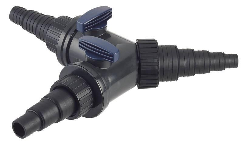 """Oase Y- kus 1 1/2"""" hadicový rozdělovač s regulací (25/32/38mm) - Stavba jezírka,hadice,trubky,fitinky Kulové ventily, klapky, rozdělovače"""