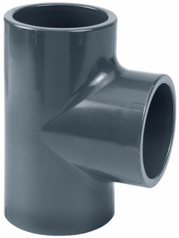 PVC T-kus 90° 75mm - Stavba jezírka,hadice,trubky,fitinky Tvarovky,fitinky T-kusy, Y-kusy, kříže