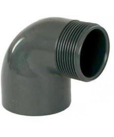 "PVC úhel-koleno 90°-50mm x 1 1/2"" ext. - Stavba jezírka,hadice,trubky,fitinky Tvarovky,fitinky Úhly"