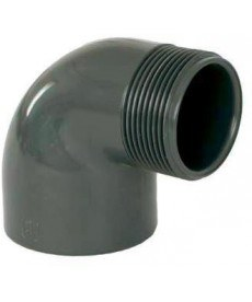 "PVC úhel-koleno 90°-50mm x 2"" ext. - Stavba jezírka,hadice,trubky,fitinky Tvarovky,fitinky Úhly"