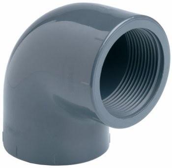 "PVC úhel-koleno 90°-63mm x 2"" int. - Stavba jezírka,hadice,trubky,fitinky Tvarovky,fitinky Úhly"